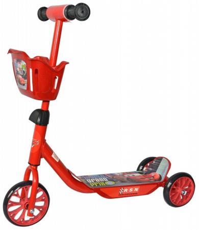Самокат трехколёсный 1TOY Disney Тачки 6/5 красный 1toy самокат тачки