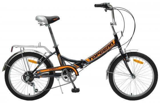 """Велосипед двухколёсный Top Gear Compact 50 (ВНС2083-6s) 20"""" черно-оранжевый"""