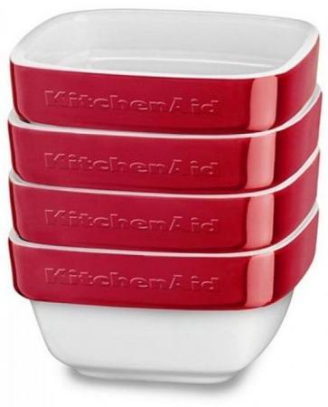 Форма для запекания KitchenAid KBLR04RMER керамика красный kitchenaid kblr04nsac набор из 4 керамических кастрюль для запекания cream
