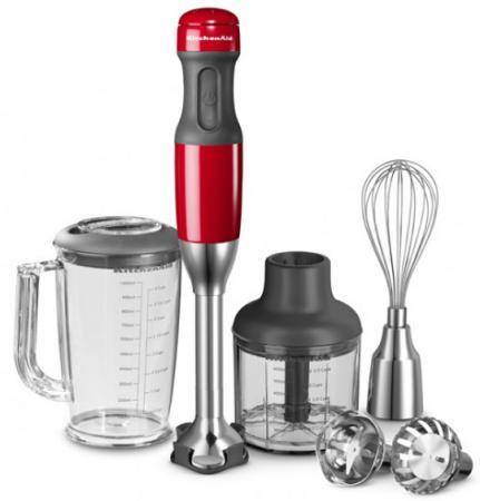 Блендер погружной KitchenAid 5KHB2571 180Вт серый красный блендер kitchenaid 5ksb5080ems 110314