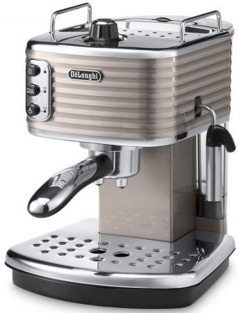 Кофеварка DeLonghi Scultura ECZ351.BG 1100 Вт бежевый серебристый кофемашина delonghi ecam 45 760 w белый
