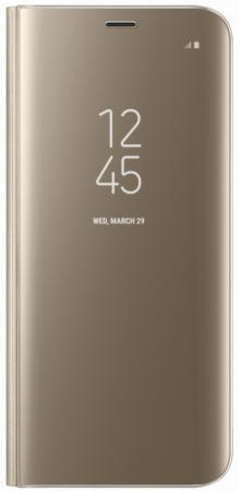 Чехол Samsung EF-ZG950CFEGRU для Samsung Galaxy S8 Clear View Standing Cover золотистый чехол для сотового телефона samsung galaxy s8 led view cover black ef ng955pbegru