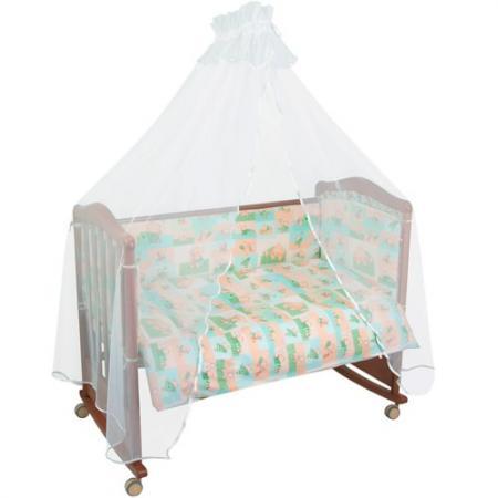 Комплект в кроватку 4 предмета Тайна Снов Топтыжки (салатовый) борт в кроватку тайна снов топтыжки розовый бтт 0411167 2