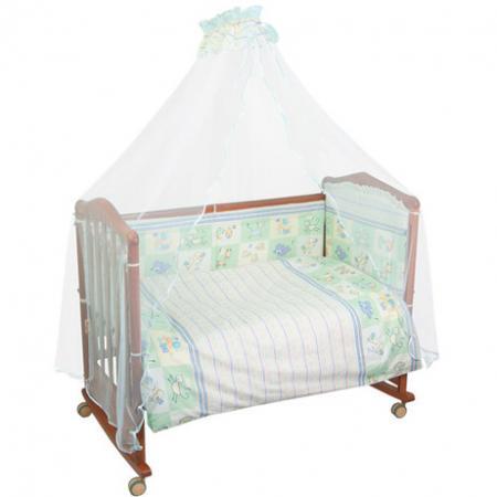 Бампер в кроватку Сонный Гномик Считалочка (салатовый) сонный гномик постельное белье считалочка 7 пред сонный гномик бежевый