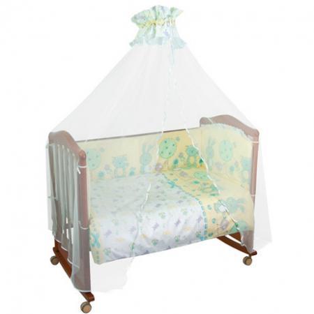 Бампер в кроватку Сонный Гномик Акварель (бирюзовый) борт в кроватку сонный гномик считалочка бежевый бсс 0358105 4