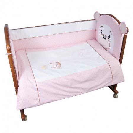 Бампер в кроватку Сонный Гномик Умка (розовый) борт в кроватку сонный гномик считалочка бежевый бсс 0358105 4