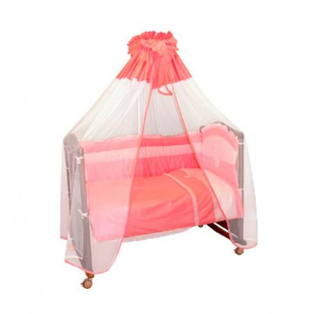 Бампер в кроватку Сонный Гномик Пушистик (розовый) борт в кроватку сонный гномик считалочка бежевый бсс 0358105 4