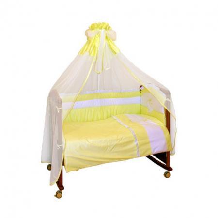 Бампер в кроватку Сонный Гномик Пушистик (салатовый) бортики в кроватку сонный гномик считалочка