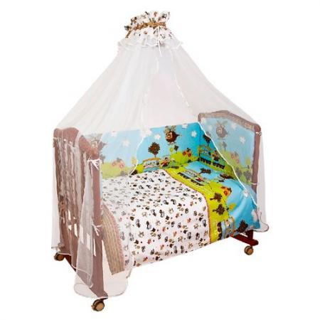 цены Комплект в кроватку 4 предмета Сонный Гномик Каникулы (голубой)