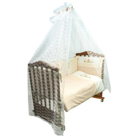 Бампер в кроватку Сонный Гномик Кантри (бежевый) цена