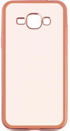 все цены на Чехол силиконовый DF sCase-27 с рамкой для Samsung Galaxy J1 2016 розовый онлайн