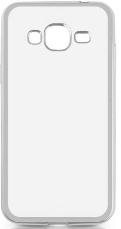 Чехол силиконовый DF sCase-28 с рамкой для Samsung Galaxy J3 2016 серебристый чехол силиконовый df scase 24 с рамкой для samsung galaxy a7 2016 серый
