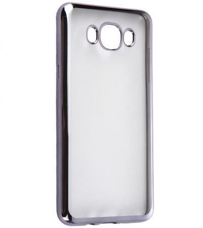 Чехол силиконовый DF sCase-30 с рамкой для Samsung Galaxy J7 2016 черный чехол epik двухслойный ударопрочный с защитными бортами экрана verge для j710f galaxy j7 2016