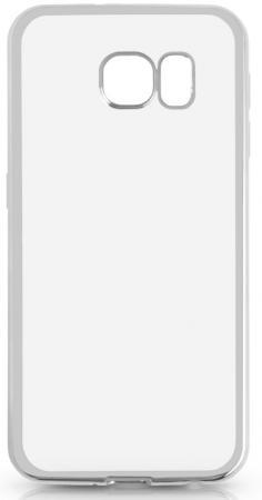 Чехол силиконовый DF sCase-31 с рамкой для Samsung Galaxy S6 серебристый чехол силиконовый df scase 24 с рамкой для samsung galaxy a7 2016 серый