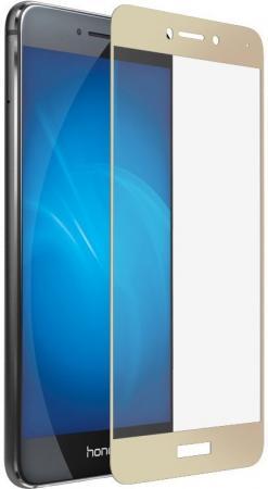 Защитное стекло DF hwColor-08 для Huawei Honor 8 Lite/P8 Lite 2017 с рамкой золотистый аксессуар чехол huawei honor 8 lite p8 lite 2017 df hwcase 28