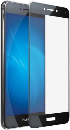 Защитное стекло DF hwColor-08 для Huawei Honor 8 Lite/P8 Lite 2017 с рамкой черный аксессуар чехол huawei honor 8 lite p8 lite 2017 df hwcase 28