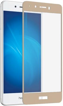 Защитное стекло DF hwColor-11 для Huawei Honor 6C с рамкой золотистый