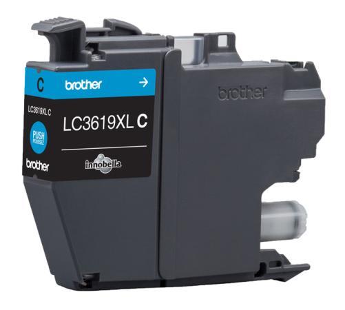 Картридж Brother LC3619XLC для Brother MFC-J3530DW/J3930DW голубой 1500стр картридж brother lc3619xlc голубой cyan 1500стр для brother mfc j3530dw j3930dw