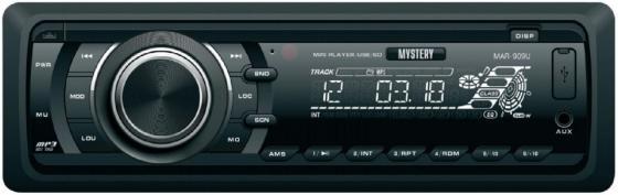 Автомагнитола Mystery MAR-909U USB MP3 FM SD без CD-привода 1DIN 4x50Вт черный mystery mar 707u cd mp3 usb sd