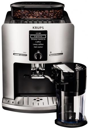 Кофемашина Krups EA829E10 1450 Вт серебристо-черный кофемашина капсульного типа dolce gusto krups piccolo kp100b10