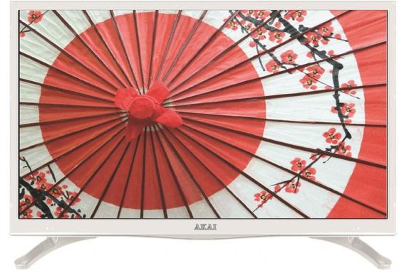 Телевизор LED 28 Akai LES-28A67W белый 1366x768 50 Гц Wi-Fi Smart TV RJ-45 VGA SCART телевизор akai les 28a67w белый