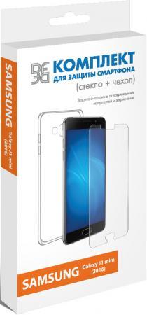 Защитное стекло + чехол DF sKit-02 для Samsung Galaxy J1 mini 2016 dekker для samsung galaxy j1 2016 white
