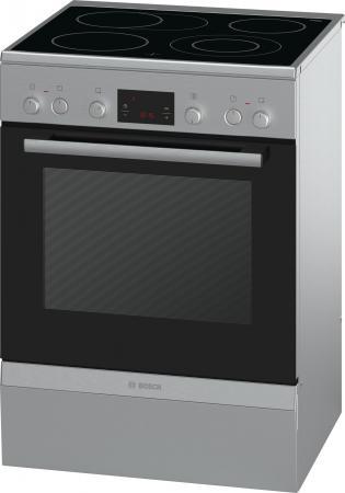 Электрическая плита Bosch HCA644250R серебристый плита электрическая kaiser hc 52010 r moire