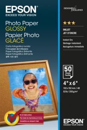 Фотобумага Epson 10x15см 200г/м2 глянцевая 50л C13S042547 epson фотобумага струйная печатная бумага