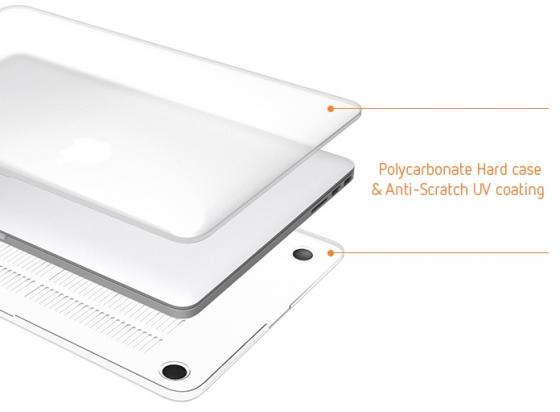 Чехол-накладка для ноутбука MacBook Pro 13 LAB.C Ultra Slim Fit поликарбонат прозрачный LABS-452-CR mr northjoe ultra slim crystal hard case keyboard cover anti dust plug set for macbook pro 13 3