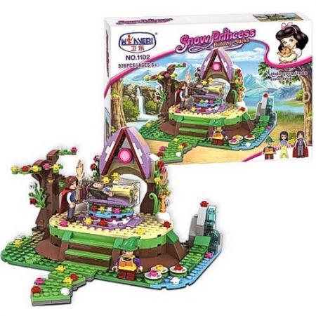 Конструктор Winner Bricks принцесса, Спящая принцесса и принц 326 элементов 1102