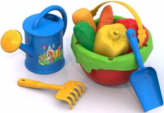 песочный набор grand toys gt8264 ведро совок грабельки ситечко формочка маша формочка медведь Песочный набор Нордпласт Огородник 442
