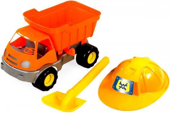 Песочный набор ZebraToys Самосвал c каской и лопатой 3 предмета машина zebratoys трактор c каской и лопатой 15 10593