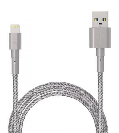 Кабель Lightning 1м PQI Ultimate Toughness круглый кабель lightning 1м wiiix круглый cb120 u8 10b