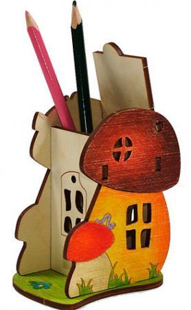 игрушка вуди набор боровичок wi 00631 Деревянный конструктор WOODY Боровичок 6 элементов  631