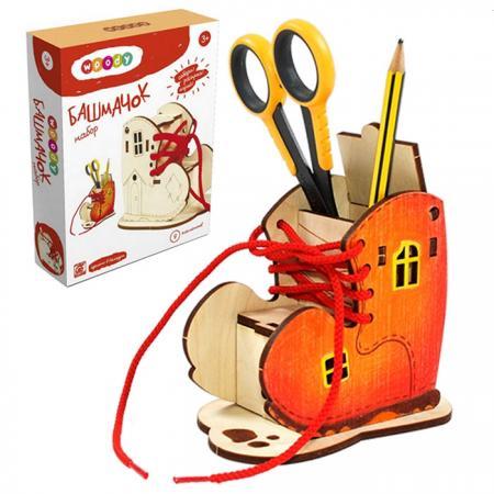 Конструктор WOODY Башмачок 9 элементов О0679 мягкая игрушка интерактивная woody o time лошадка непоседа