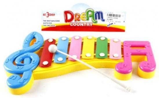 Ксилофон Shantou Gepai Веселые нотки, 6 тонов, пакет 20099 детский музыкальный инструмент shantou gepai ксилофон bx 101