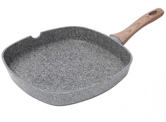Сковородка-гриль Bergner SG-6154 Granito 28 см алюминий сковородка гриль tvs ay502284010001 28 см алюминий