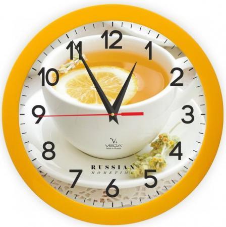 Часы настенные Вега П1-2/7-259 Лимонный чай рисунок цена