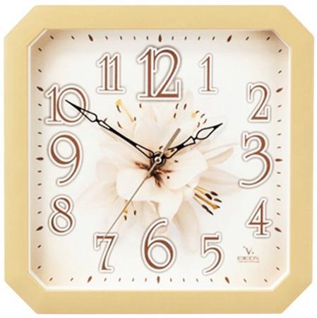 Часы Вега П4-14/7-87 Лилия бежевый часы настенные вега пейзаж п4 3 7 82 зелёный