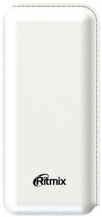 Портативное зарядное устройство Ritmix RPB-10001L 10000мАч белый аккумулятор ritmix rpb 10003l coral
