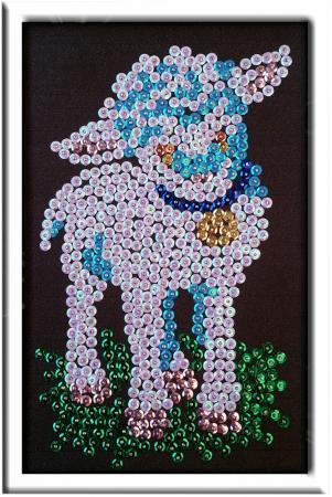 Мозайка из пайеток Волшебная мастерская Овечка мозайка из пайеток волшебная мастерская лилии 023