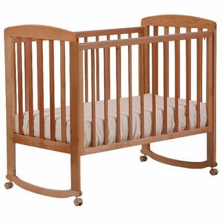Кроватка-качалка Лель Ромашка АБ 16.0 (орех светлый) обычная кроватка счастливый малыш дюймовочка 008 светлый орех