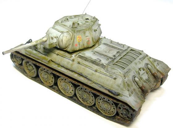 Танк Звезда Советский танк Т-34/76 1:35 зеленый 3525 танк т 34 76 с минным тралом 1 35