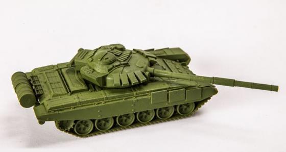 Танк Звезда Т-72Б 1:100 зеленый танк звезда