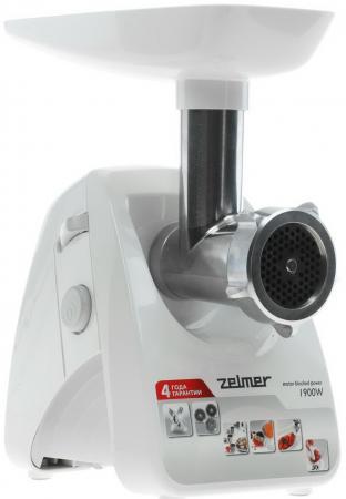 Мясорубка Zelmer ZMM1289SRU 650 Вт белый zelmer 687 5 zmm0805wru white