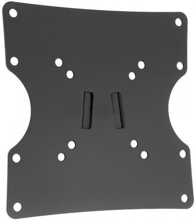 "Кронштейн Holder LCD-F2501-B черный для ЖК ТВ 10-40"" настенный от стены 24мм наклон 0° VESA 200x200 до 30 кг кронштейн жк плазма 20 40 накл черный holder"