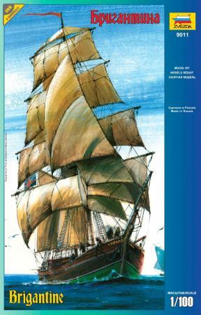 цены Корабль Звезда Бригантина 9011П 1:100