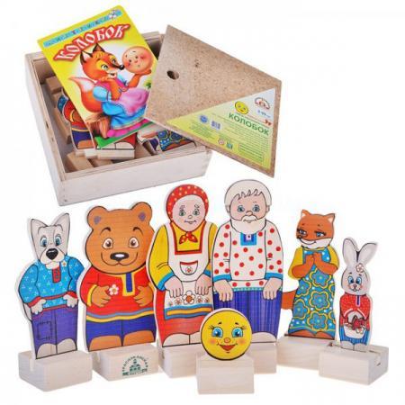 Игровой набор КРАСНОКАМСКАЯ ИГРУШКА Персонажи сказки Колобок Н-20 краснокамская игрушка развивающая пирамидка кольцевая