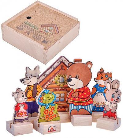 Игровой набор КРАСНОКАМСКАЯ ИГРУШКА Персонажи сказки Теремок Н-10 краснокамская игрушка развивающая пирамидка кольцевая