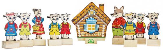 Игровой набор КРАСНОКАМСКАЯ ИГРУШКА Персонажи сказки Волк и семеро козлят Н-12 краснокамская игрушка развивающая пирамидка кольцевая